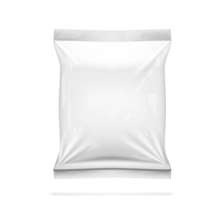 Realistic White Glossy Packaging Isolated On White Background. EPS10 Vector Çizim