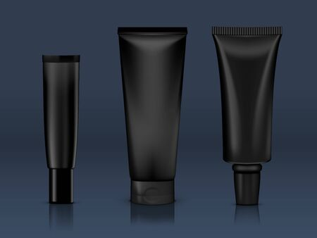 Cosmetic Products Tube Package On A Dark Back