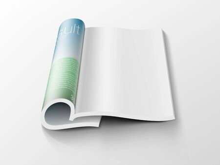 Blank Open Clear Paper Magazine 3D View