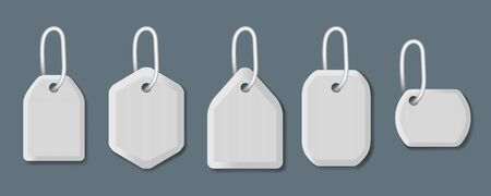 Differents Shapes Shopping Sale Tags And Labels Vettoriali