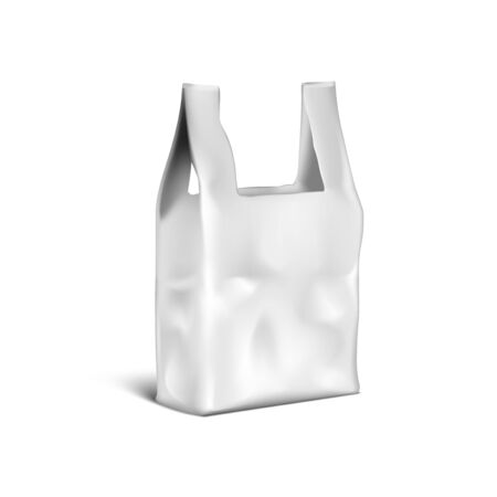 3D Shopping Handle Disposable Plastic Bag Package