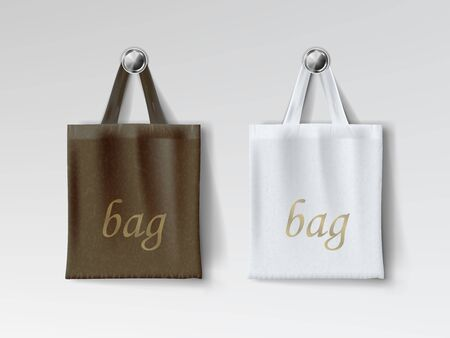 Dark And Light Shopping Bags Isolated On Back