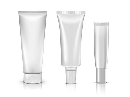 3D Cosmetic Products Tube Package With Shadows