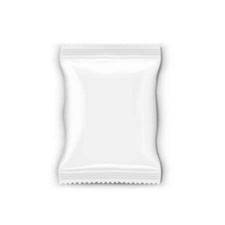 Food Snack Glossy Pillow Bag Isolated On White