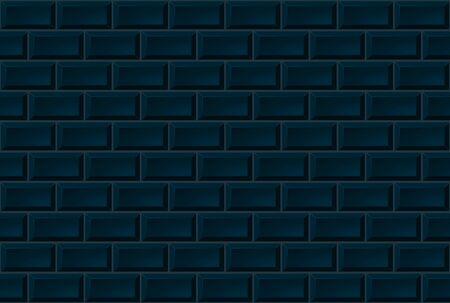 Dark Ceramic Brick Tile Wall. Seamless Pattern