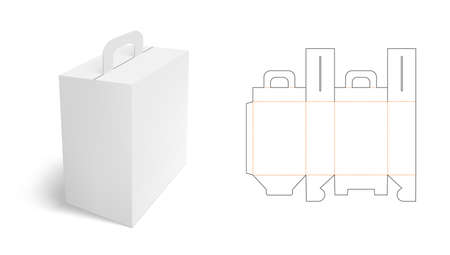 White Clear Folding Carton Box With Diecut Archivio Fotografico - 152531211