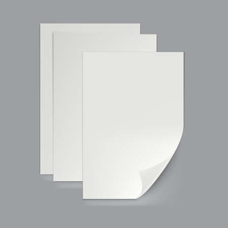Empty A3, A4 Or A5 Folded Paper Sheet 向量圖像