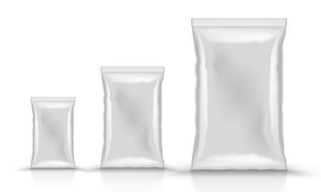 Different Size Vertical Sealed Plastic Foil Bags 向量圖像