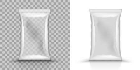 3D Empty Vertical Sealed Plastic Foil Bags 向量圖像