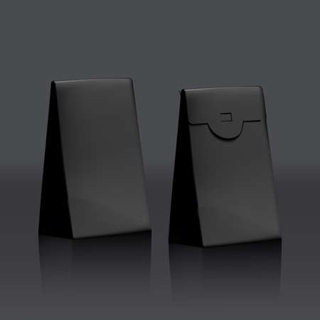 3D Black Velvet Product Gift Jewelry Cardboard 向量圖像