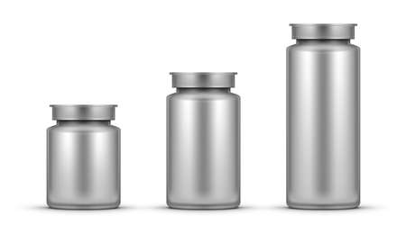 3D Realistic Glossy Plastic Pill Bottle Package