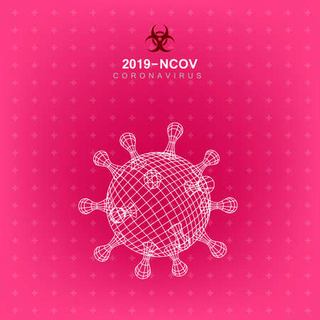 3D Outline Style 2019-nCoV Virus Covid Background