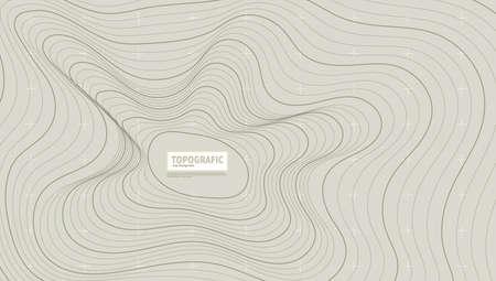 3D Contours Mountain Topograph Map Terrain Back 向量圖像