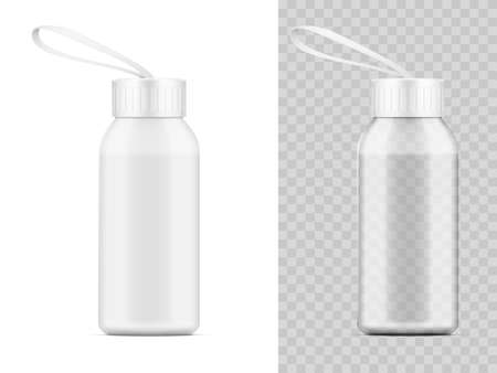 Transparent And White Plastic Water Bottle Shaker