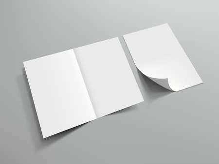 Blank Half Fold Brochure Template For Your Design
