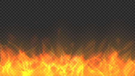 Fire Flames And Sparks On Transparent Background 向量圖像