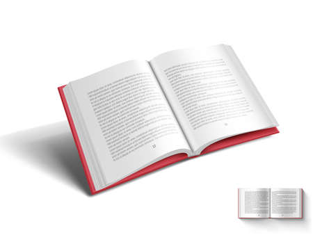 3D Blank A4 Magazine Flying On White Background