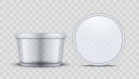 Round Plastic Food Container With Lid For Food