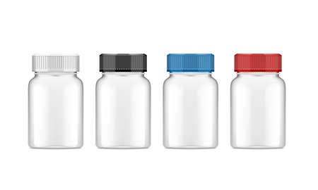 Realistic Plastic Bottle For Medical Or Other Use