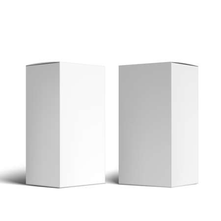 Various Angle 3D Blank Package Box Set.