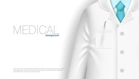 Medical Background Template. Doctor With Stethoscope.  Vector 向量圖像