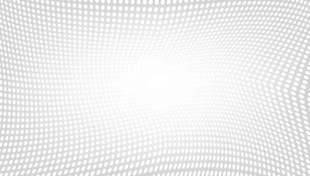 Geometric Dot Mesh Gradient Wave Halftone Background.  Vector