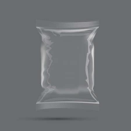 Blank Plastic Foil Bag Food Packaging Mockup