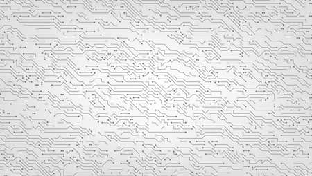 Digital Background Black And White Circuit Board Иллюстрация