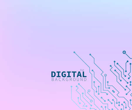 True Digital Pink And Blue Circuit Board Concept