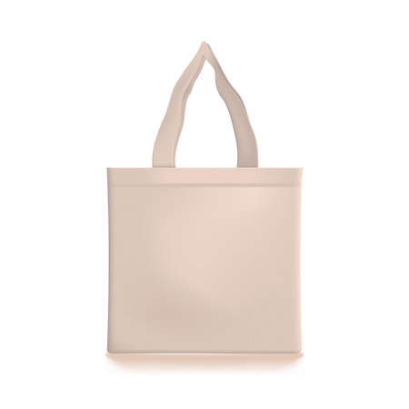 3D Eco Friendly Beige Shopping Tote Bag Иллюстрация