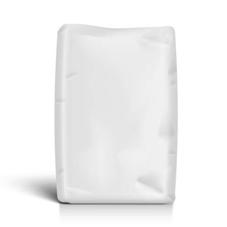 White Bag For Flour Or Other Loose Products Иллюстрация