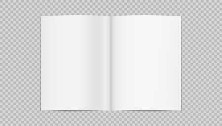 3D Blank Open Half-folded Thin Book Or Brochure