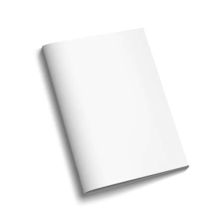 Magazine Or Brochure With Blank Cover On White Иллюстрация