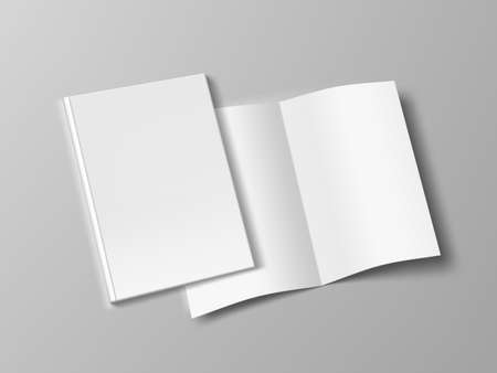 Two Thin Books Open And Close With Soft Cover