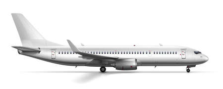 3D Blank Glossy White Airplane Or Airliner