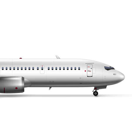 3D Blank Glossy White Airplane Or Airliner Nose