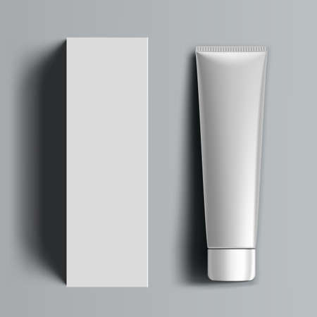 3D Plastic Tube And Carton Box Packaging
