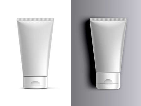 Clear Cream Packaging Stand And Lying Down