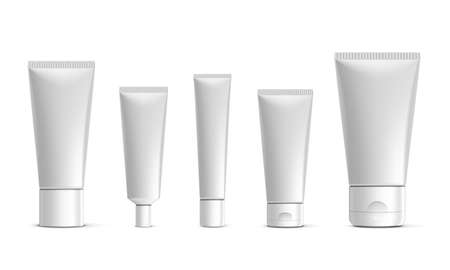 Blank Plastic Tube For Cosmetics With Cap