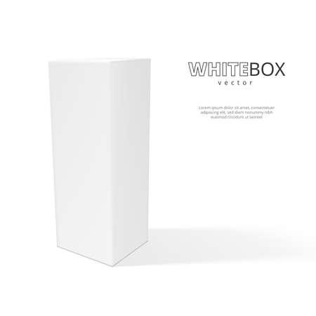 3D White Box With Shadow Isolated On Background Ilustracje wektorowe