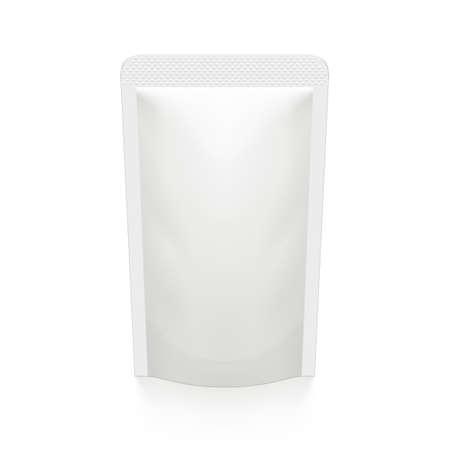 3D White Pouch Foil Plastic Vacuum Packaging