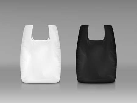White And Black Disposable Plastic Shopping Bag