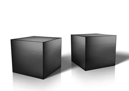 3D Black Glossy Box For Jewellery Or Small Gift
