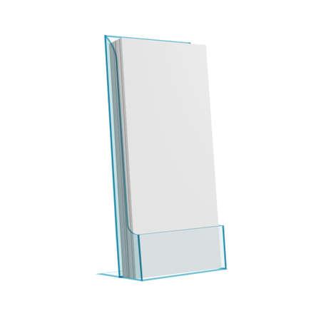 3D Flyer Glass Or Plastic Holder Stand Иллюстрация