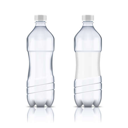 Plastic Clear Water Bottle With And Without Label