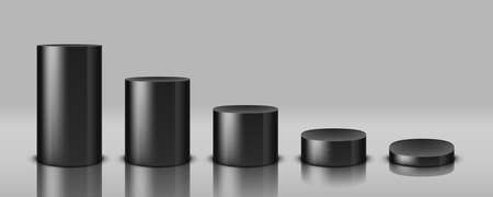 3D Various Cylinder Stages Or Product Podiums