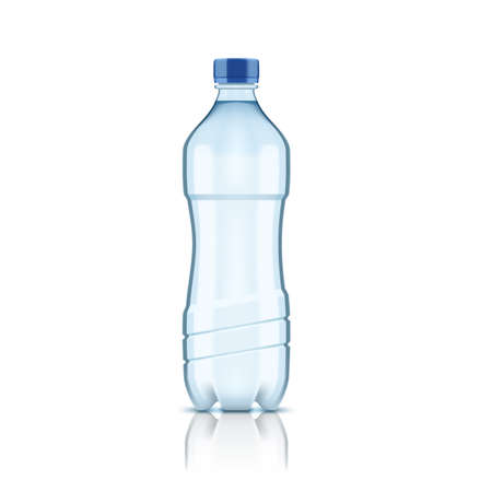 3D Plastic Clear Water Bottle Without Label