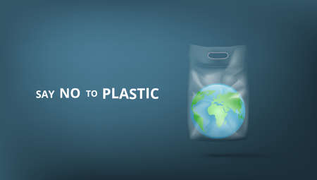 Say No To Plastic 3D Banner Template