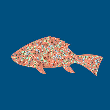 Garbage In The Silhouette Of A Fish