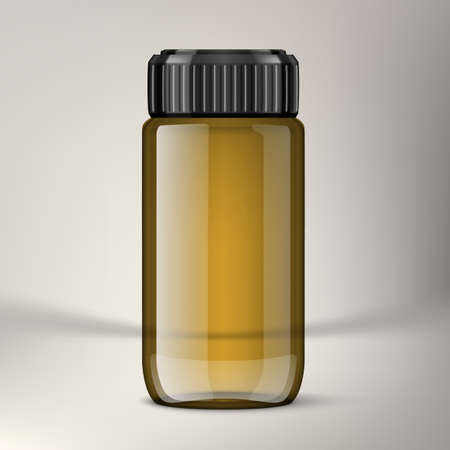 3D Pharmaceutical Bottle With Clear Medical Oil